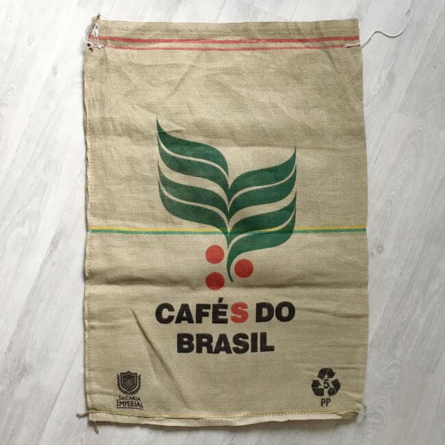 Sac toile de jute café Braun Notes - arrière