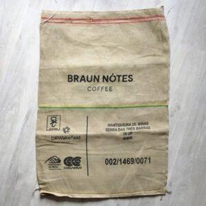 Sac toile de jute café Braun Notes - avant