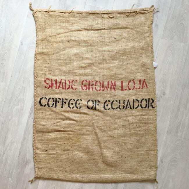 Sac toile de jute café Fapecafes - arrière