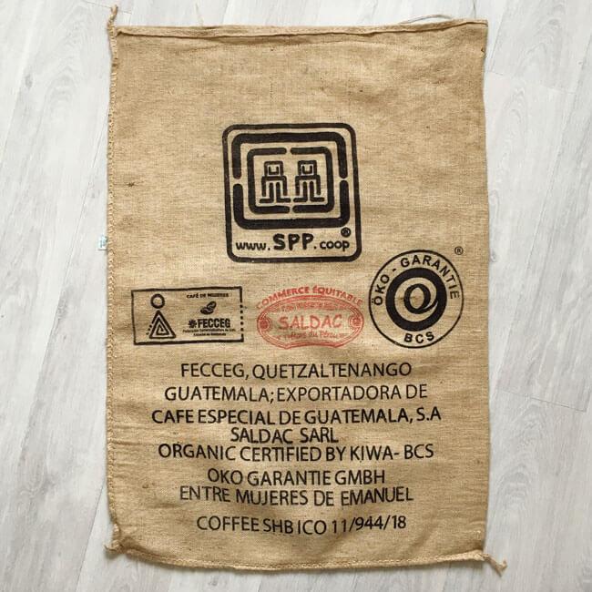 Sac toile de jute café Fecceg - avant