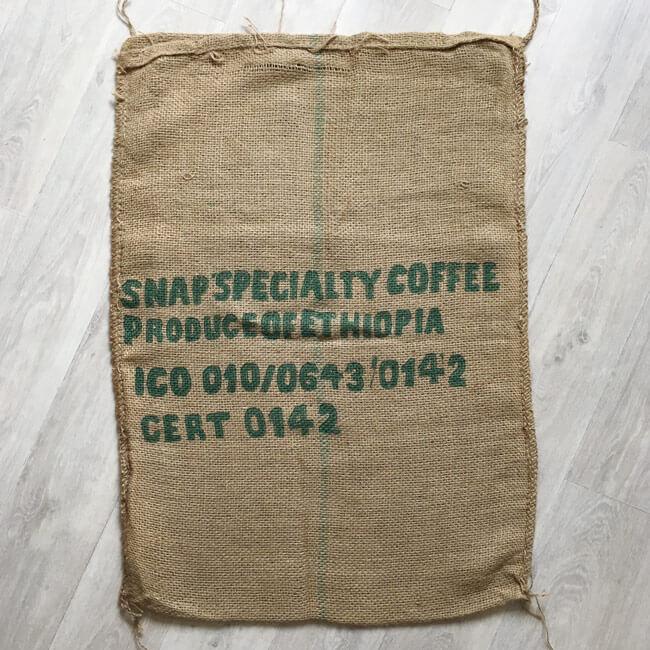 Sac toile de jute café Hailu Figa - arrière