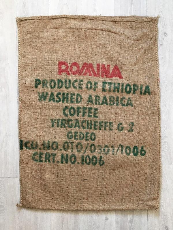Sac de café en jute Romina - arrière