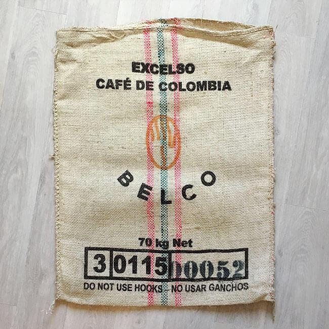 Makoha - sac de café en sisal Choco 2022 - arrière
