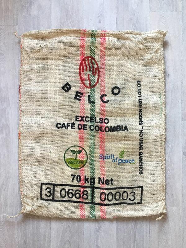 Makoha - sac en toile de jute café Choco - arrière