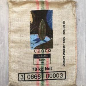 Makoha - sac en toile de jute café Choco - avant
