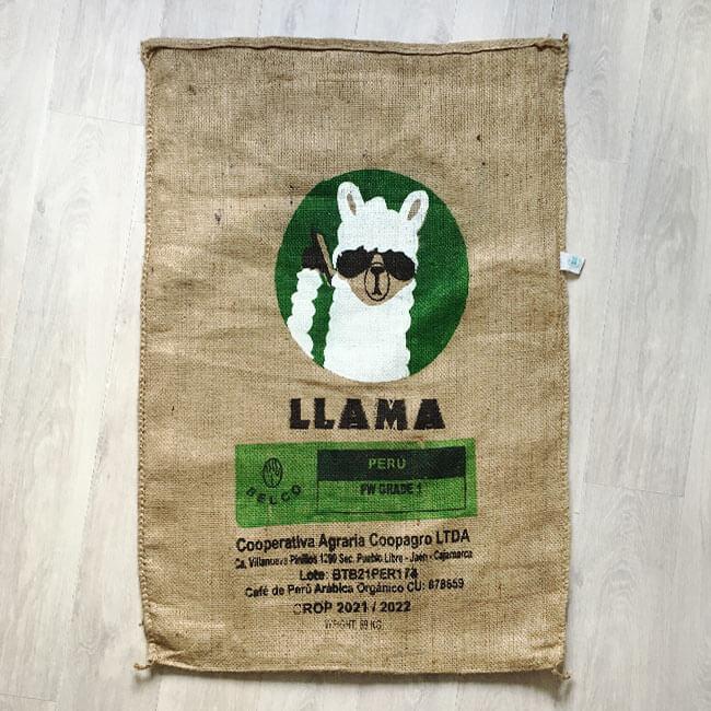 Makoha - sac de café en jute Llama 2022 - avant