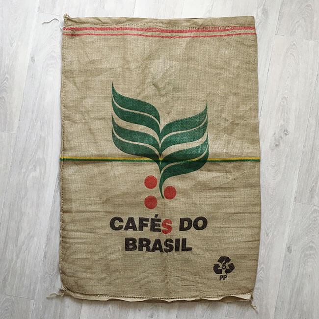 Makoha - sac en toile de jute et synthétique café Cooxupé - arrière