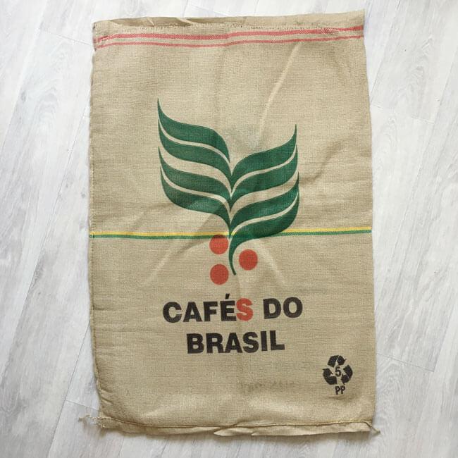 Makoha - sac en toile de jute et synthétique café Guarani - arrière