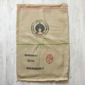 Makoha - sac en toile de jute et synthétique café Guarani - avant
