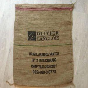Makoha - sac en toile de jute café Olivier Langlois Brésil - arrière
