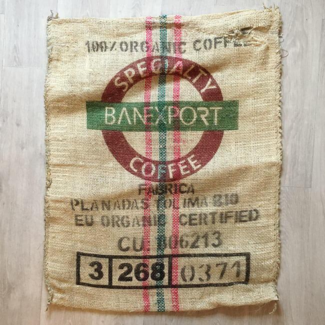 Makoha - sacs en toile de jute café Colombia Excelso - arrière