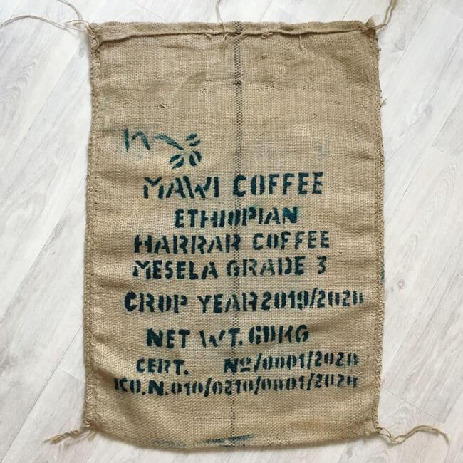 Makoha - Sac toile de jute café Mawi - avant