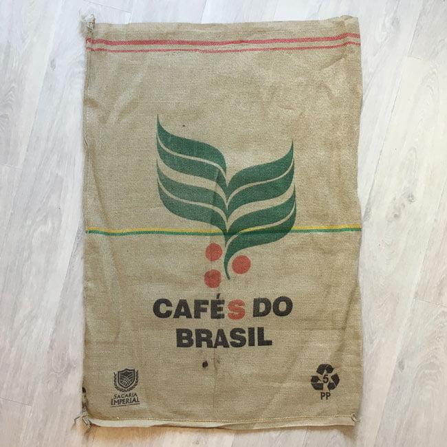 Makoha - sac en toile de jute et synthétique café Dutra - arrière