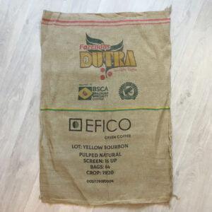 Makoha - sac en toile de jute et synthétique café Dutra - avant