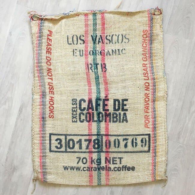 Sac en sisal café Caravela - arrière
