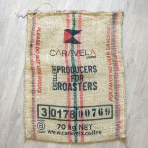 Sac en sisal café Caravela - avant