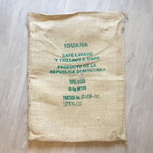 Makoha - sac en sisal café Iguana - arrière