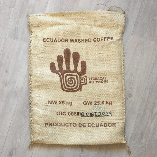 Sac sisal café Terrazas del Pisque - avant