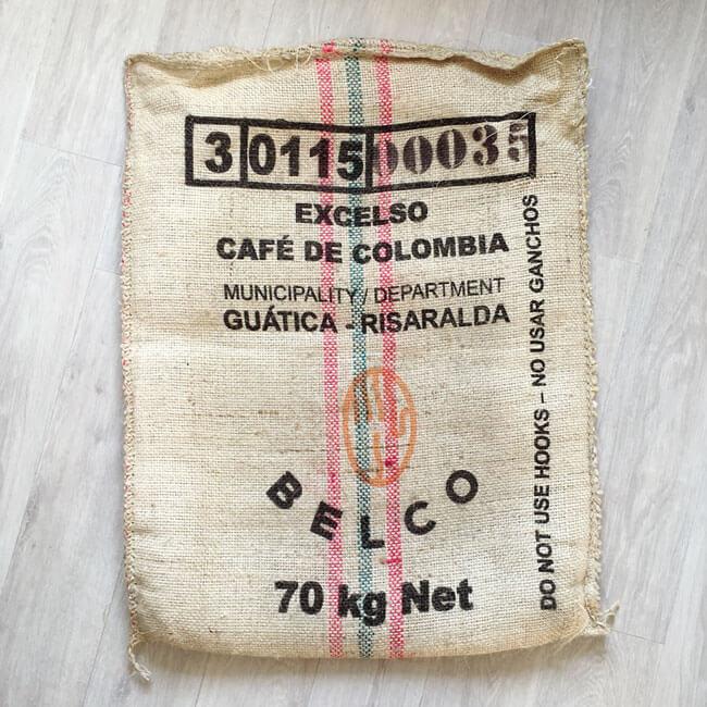 Makoha - Sac en sisal café Winy - arrière