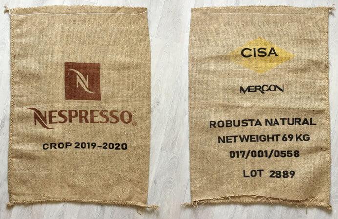 Makoha - sac toile de café Nespresso