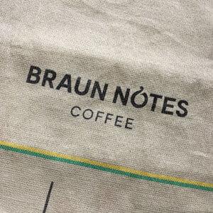 Sac toile de jute café Braun Notes