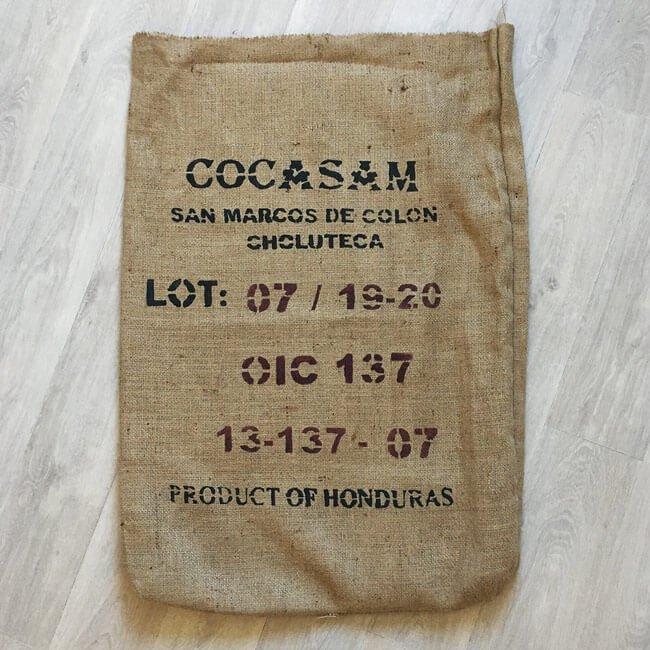 Sac toile de jute café Cocasam - avant