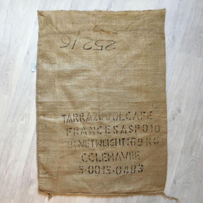 Makoha - sac toile de jute café Colibri - arrière