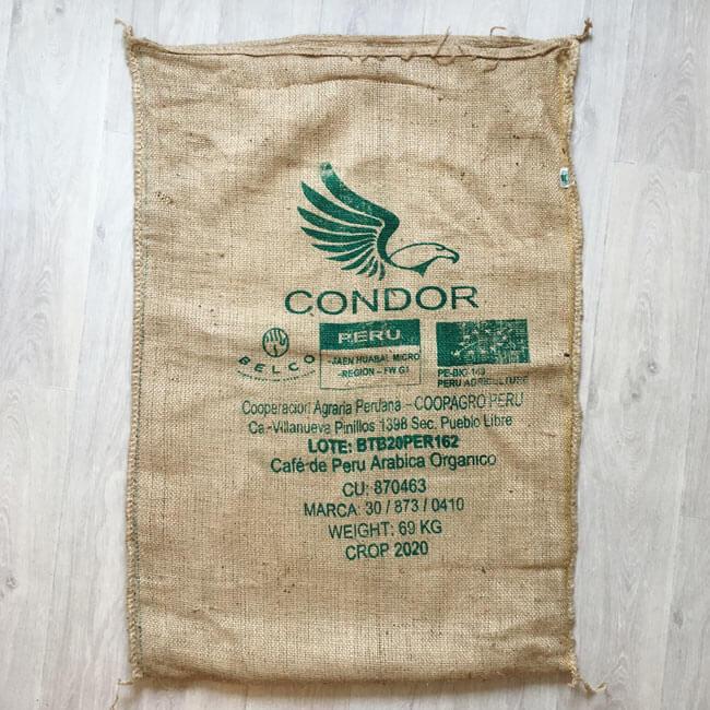Makoha - sac en toile de jute café Condor - avant