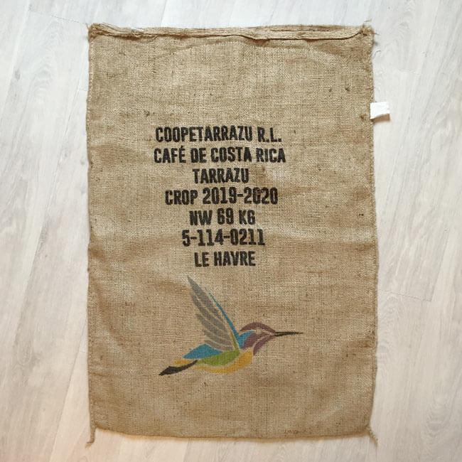Makoha - sac en toile de jute café Coopeterrazu - avant