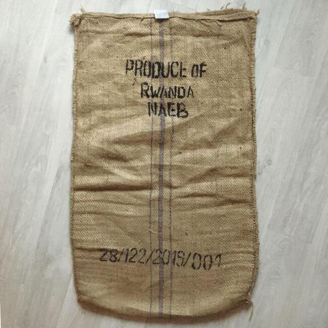 Makoha - sac en toile de jute café CPC Rwanda - arrière