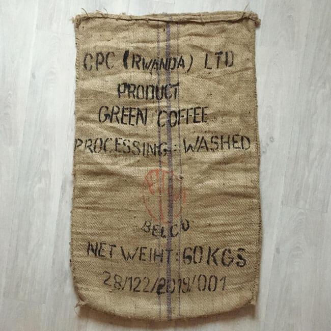 Makoha - sac en toile de jute café CPC Rwanda - avant