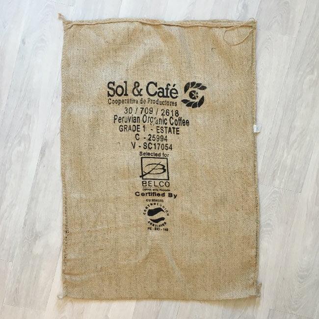 Makoha - sac en toile de jute café El Mango - arrière