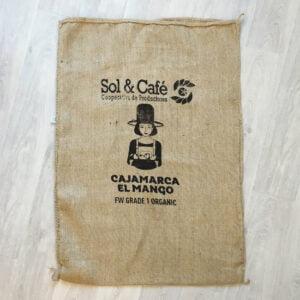 Makoha - sac en toile de jute café El Mango - avant