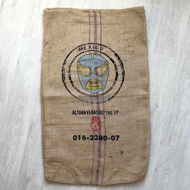 Makoha - Sac en toile de jute café El Santo - avant