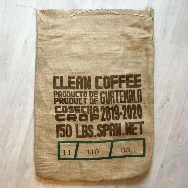 Makoha - Sac en toile de jute café Estate Coffee - arrière