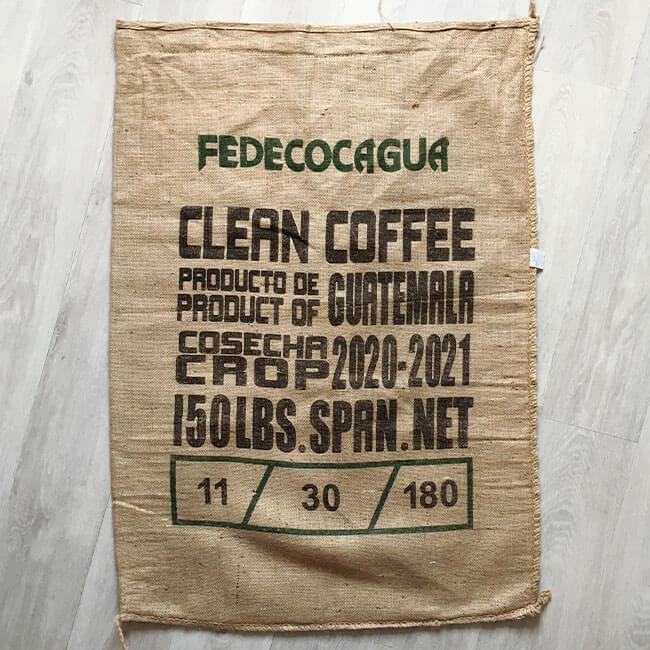 Makoha - sac en toile de jute café Fedecocagua Olivier Langlois - arrière