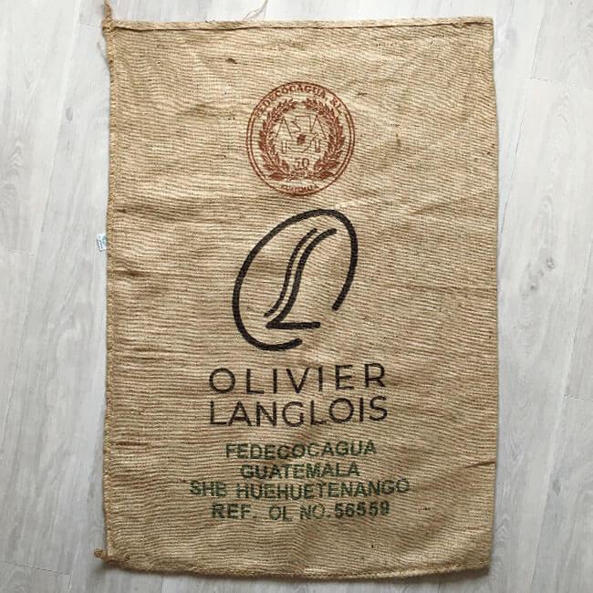 Makoha - sac en toile de jute café Fedecocagua Olivier Langlois - avant