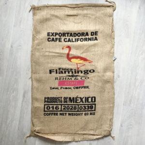 Makoha - sac en toile de jute café Finca Flamingo - avant