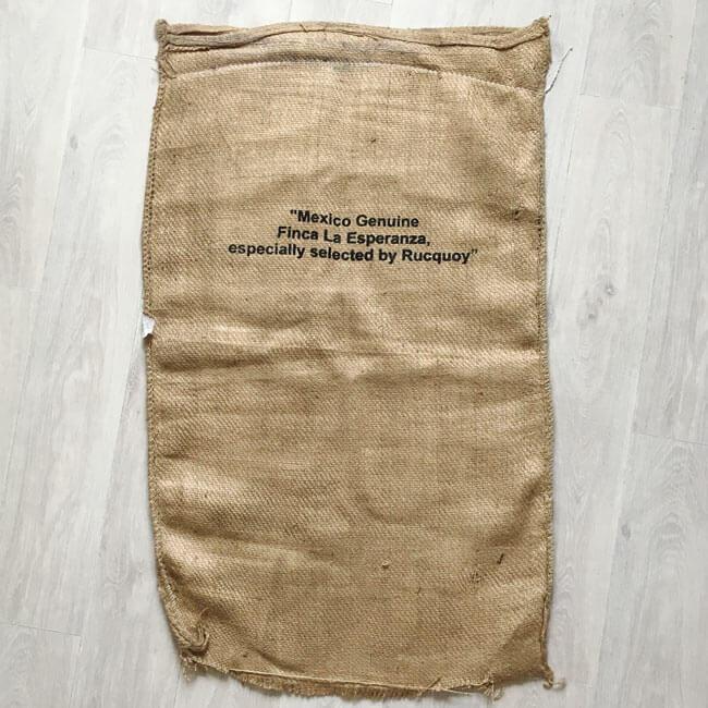 Makoha - sac en toile de jute Finca La Esperanza - arrière
