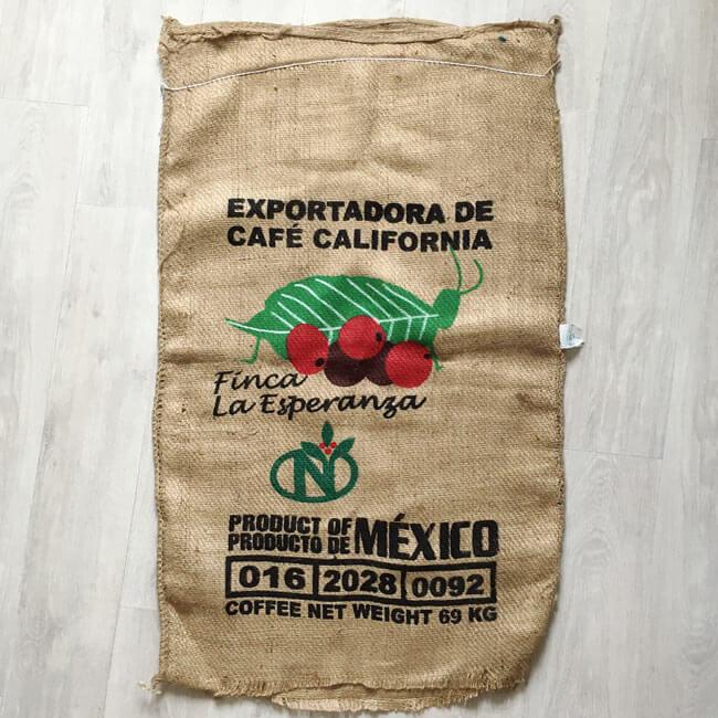 Makoha - sac en toile de jute Finca La Esperanza - avant