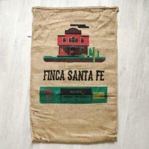 Makoha - Sac en toile de jute café Finca Santa Fé - avant