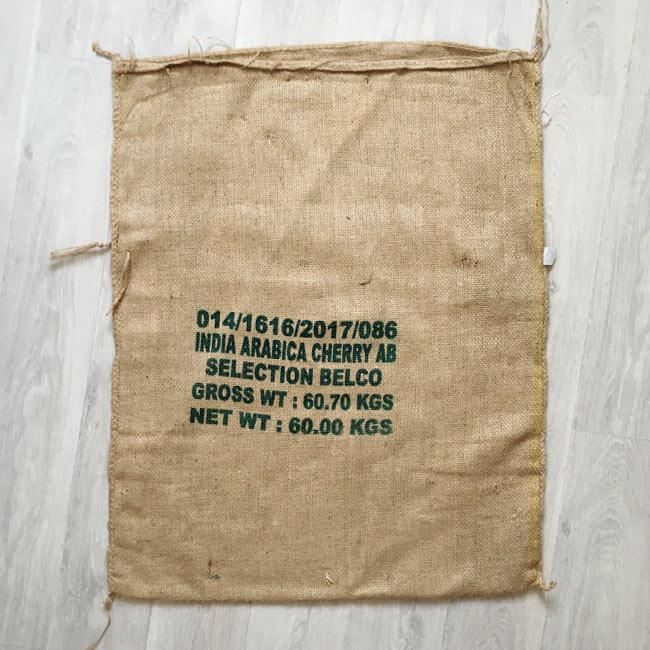 Makoha - sac en toile de jute café Karnataka - arrière