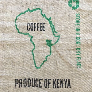 Makoha - sac en toile de jute café Kenya Arabica