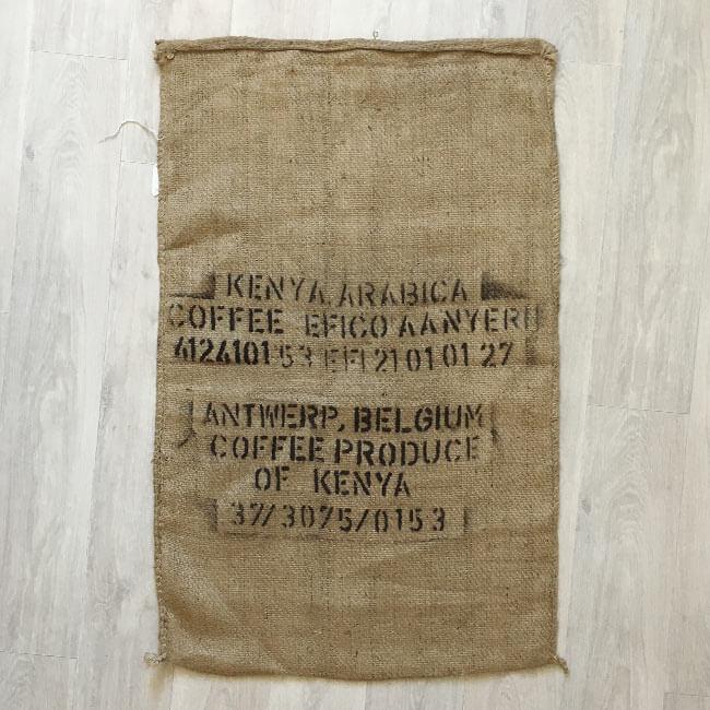 Makoha - sac en toile de jute café Kenya Arabica - arrière