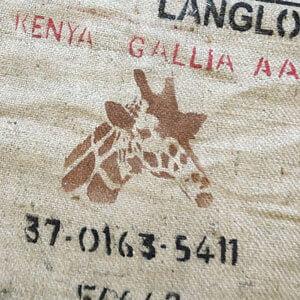 Makoha - sac en toile de jute café Kenya Gallia