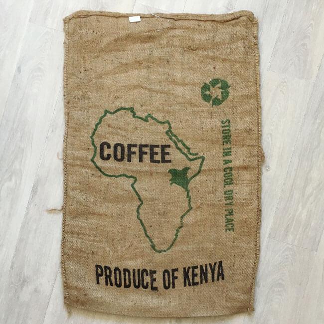 Makoha - sac en toile de jute café Kenya Gallia - arrière