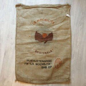 Sac toile de jute café La Mochilita - avant