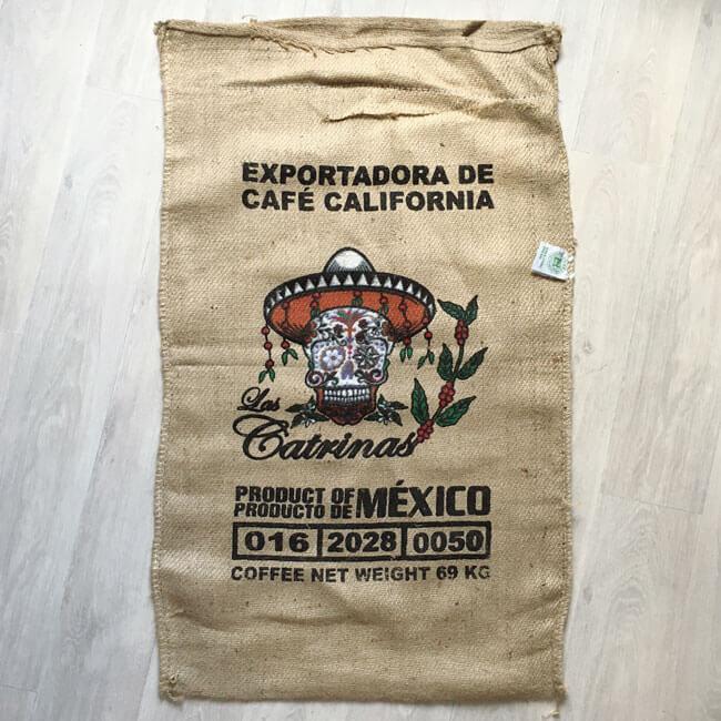Makoha - sac en toile de jute café Las Catrinas - avant