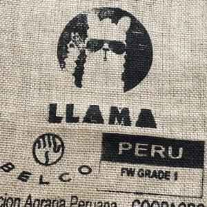 Sac toile de jute café Llama noir