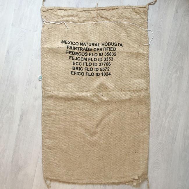 Makoha - sac en toile de jute café Mexico Fairtrade - arrière